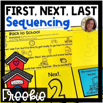 Back to School Story Retelling and Sequencing FREEBIE | First, Next, Last