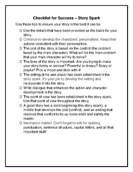 Back to School Story Spark - Not Your Average Writing Prompt