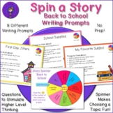 Back to School Story Spinner - Writing Prompts and Discuss