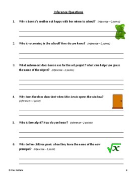 Back to School Story and Activities
