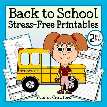 Back to School NO PREP Printables - Second Grade Common Co