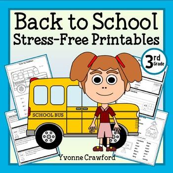 Back to School NO PREP Printables - Third Grade Common Cor