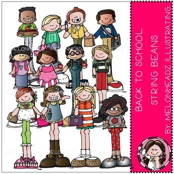 Melonheadz: Back to School clip art - String Beans