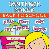 Back to School Structured Writing