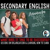 Back to School Activities for Secondary English