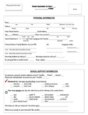 Back to School - Student Application - EDITABLE