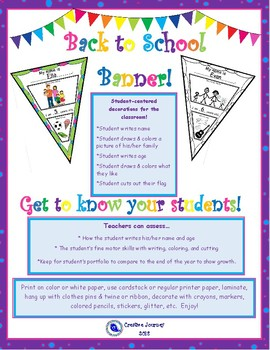 Back to School Student Banner