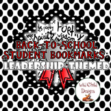Back-to-School Student Bookmarks: LEADERSHIP THEME