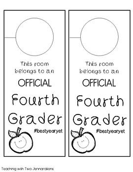 Back to School Student Door Hangers