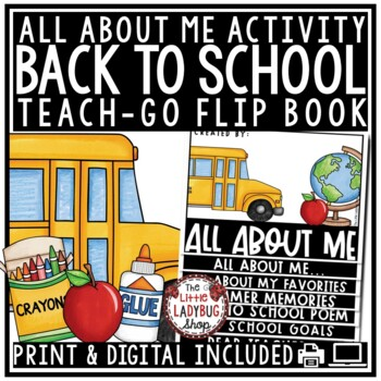 Back to School Flip Book- All About Me 2nd Grade, 3rd Grade, 4th Grade
