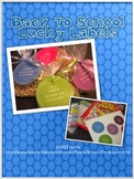 Back to School Student Gift Lucky Labels