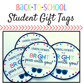 Back to School Student Gift Tag