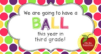 Back to School Student Gift Tag   Ball (3rd Grade)