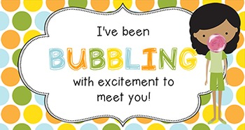 Back to School Student Gift Tag | Bubbling with Excitement