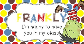 Back to School Student Gift Tag   Frankly II