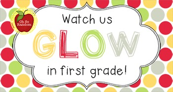Back to School Student Gift Tag   GLOW
