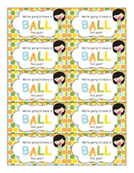 Back to School Student Gift Tag | Have a BALL