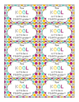 Back to School Student Gift Tag | How KOOL to be a...