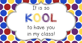 Back to School Student Gift Tag | KOOL Class