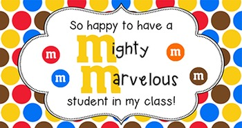 Back to School Student Gift Tag | M&M Student