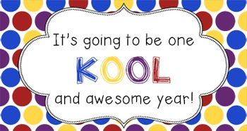 Back to School Student Gift Tag | One KOOL Year