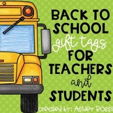 Back to School Gift Tags For Teachers and Students