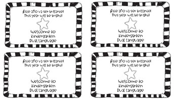 Back to School Student Gift Tags - Dual Language