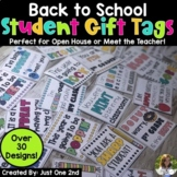 Back to School Student Gift Tags (Perfect for Open House &