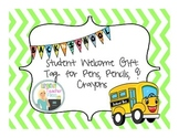 Back to School Student Gift Tags for Pens, Pencils, and Markers