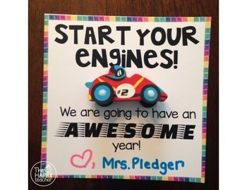 Back to School Student Gift from Teacher: Start Your Engines!