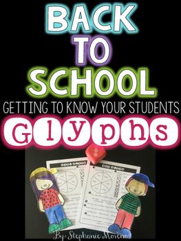Back to School Student Glyphs Activity