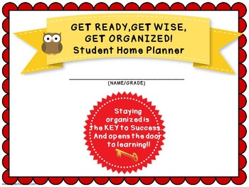 Student Organizational Home Planner