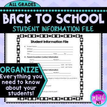 Back to School: Student Information File