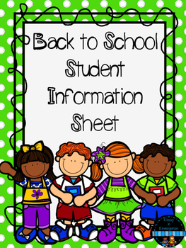 Back to School Student Information Sheet