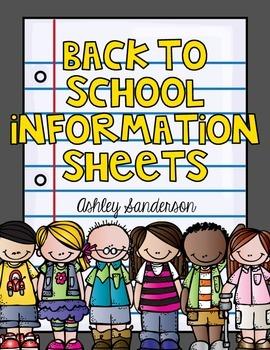 Student Information Sheet {dual language}