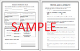 Back to School: Student Information Sheet and Parent Questionnaire