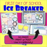First Day of School Ice Breaker Activity with Writing Prompt   Distance Learning