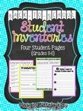 Back to School Student Inventories - Grade 3-6