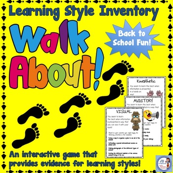 Back to School Student Learning Style Inventory Walk About!