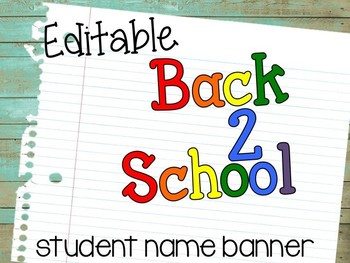 Back to School {Student Name Banner}