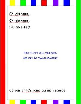 Album de classe - Prénom/Student Names - Class Book (French)