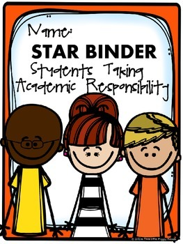 Back to School Student Organization Binder Covers