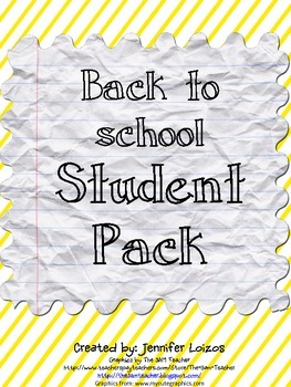 Back to School Student Pack