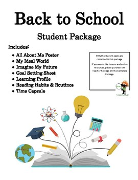 Back to School Student Pages