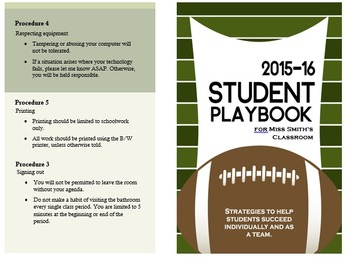 Back to School Student Playbook
