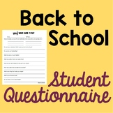 Back to School Student Questionnaire