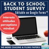 Back to School: Student Questionnaire for Google Forms™