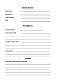 Back to School: Student self-reflection worksheet.