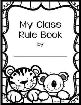 Student Rule Book - Zoo Animal Theme