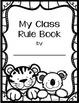 Student Rule Book - Zoo Animal Theme